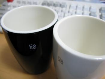 白黒カップ